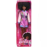 Mattel - Papusa Barbie Fashonista , Cu par afro, Cu jacheta lila