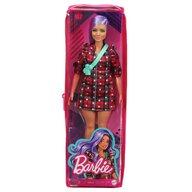 Mattel - Papusa Barbie Fashonista , Cu parul mov, Cu rochita cu stelute