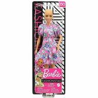 Mattel - Papusa Barbie Fashonista , Fara par, Cu rochie cu manaci bufante, Roz