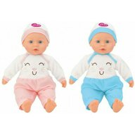 Globo Bimbo - Papusa fetita cu sunete, 40 cm, cu caciula si costum pisicuta roz sau bleu