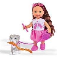 Simba - Papusa Evi Love 12 cm Holiday Friend cu catelus si accesorii
