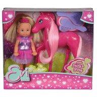 Simba - Papusa  Evi Love Fairy 12 cm cu ponei Pony si accesorii