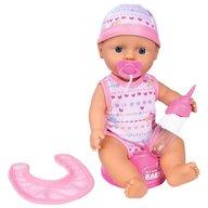 Simba - Papusa New Born Baby 30 cm Bebe Darling cu olita si bavetica roz deschis