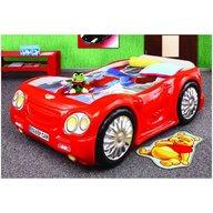Plastiko - Pat masina copii Sleep Car , Rosu