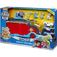 Spin Master - Set vehicule Mega camion , Paw Patrol , Cu catelusii gemeni, Cu 3 mini-vehicule