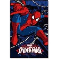 Star - Paturica copii Spiderman, Albastru Inchis/Rosu