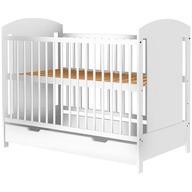 Hubners - Patut copii din lemn Kamilla 120x60 cm Alb cu sertar