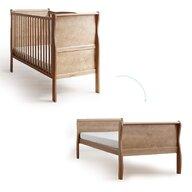 Woodies Safe Dreams - Patut transformabil + saltea Noble Vintage Pentru bebe si junior, Cocos-Spuma, 140x70 cm