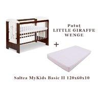 KLUPS Patut  Little Giraffe Wenge + Saltea MyKids 10 Basic II