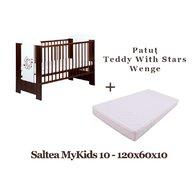 KLUPS Patut  Teddy with Stars Wenge + Saltea MyKids Basic II 10 cm