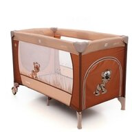 Coto Baby - Patut pliant cu doua nivele Samba Plus, 120x60 cm, Maro