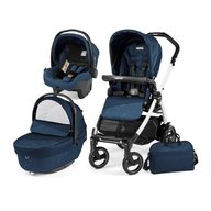 Peg Perego- Carucior 3 in 1 Book Plus 51 S Black&White Sportivo Geo