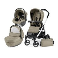 Peg Perego- Carucior 3 in 1 Book Plus S Black&White Sportivo Geo