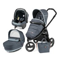 Peg Perego- Carucior 3 in 1 Book Scout, Matt Black, Elite Modular