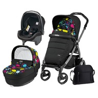 Peg Perego - Carucior 3 in 1, Peg Perego, Book Plus 51 S, Black, Completo Elite