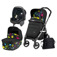 Peg Perego - Carucior 3 in 1, Peg Perego, Book Plus 51 S, Black, Pop-Up Elite