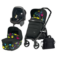 Peg Perego - Carucior 3 in 1 Book Plus POP-UP Elite Black Matt