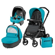 Peg Perego Carucior 3 in 1, Peg Perego, Book Plus, Black Matt, Sportivo Bloom