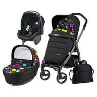 Peg Perego Carucior 3 In 1, Peg Perego, Book Plus S, Black, Completo Elite