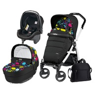 Peg Perego Carucior 3 In 1, Peg Perego, Book Plus S, Black&White, Completo Elite