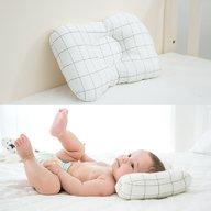 Bambinice - Perna bebelusi Comfy, Alb/Gri/Squares