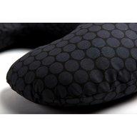 Womar - Perna pentru gravide si alaptat Comfort Exclusive 160 cm cu poliester, Negru, Gri Inchis