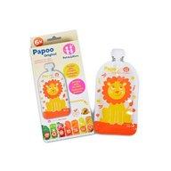 Petite&Mars - Set 6 pungi reutilizabile pentru hranire cu leuti Papoo Portocaliu
