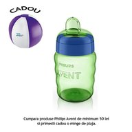 Philips Avent Cana cu tetina de formare - scurgere 260 ml 12 luni+