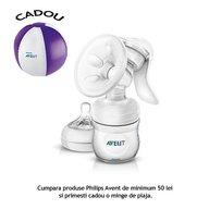 Philips Avent Pompa pentru san manuala cu biberon pentru hranire naturala WEU