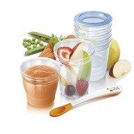 Philips Avent Recipiente pentru depozitarea alimentelor 10X180ML + 10X240ML + lingurita