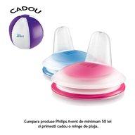 Philips Avent Tetina moale de formare 6 luni+ roz/albastru