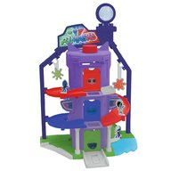 Dickie Toys - Pista de masini Eroi in Pijamale Team Headquarter cu 1 masinuta si 1 figurina