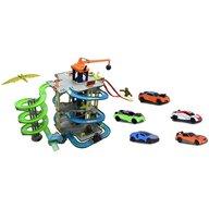 Majorette - Pista de masini  Dino Action Tower cu 5 masinute