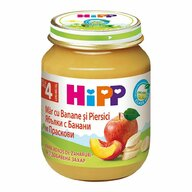 HiPP - Piure de banane, piersici si mere, 125 gr