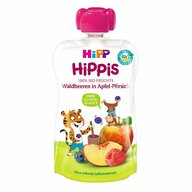 HiPP - Piure Hippis din mar, piersica, fructe de padure, 100 gr