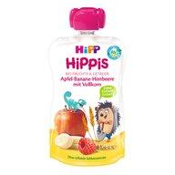 HiPP - Piure si Cereale  Hippis mar, banana, zmeura, cereale integrale 100 g