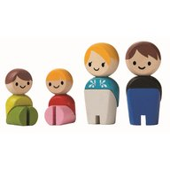 Plan Toys - Familia de papusi - set de figurine din lemn