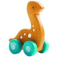 Plan Toys - Masinuta dinozaur, culoare galben