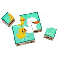 Plan Toys - Primul meu puzzle cu cuburi