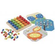 Plan Toys - Set creativ cu bumbisori