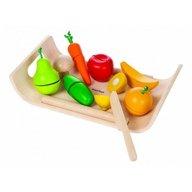 Plan Toys - Set cu fructe si legume asortate