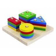 Plan Toys - Set de sortare cu forme geometrice