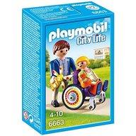 Playmobil - Copil in carucior cu rotile