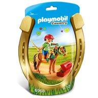 Playmobil - Ingrijitor si ponei cu floricele