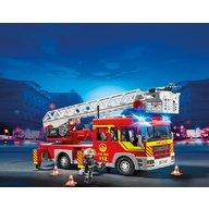 Playmobil - Masina de pompieri cu scara cu lumini si sunete