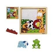Playshoes - Joc puzzle din lemn Animale