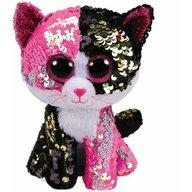 TY - Jucarie din plus Pisica Malibu , Boos , 24 cm, Cu paiete