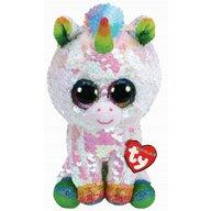 TY - Jucarie din plus Unicornul Pixy , Boos , 24 cm, Cu paiete