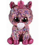 TY - Jucarie din plus Unicornul Sparkle , Boos , 24 cm, Cu paiete, Roz