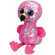 TY - Jucarie din plus Flamingo , Boos , 42 cm, Cu paiete, Roz